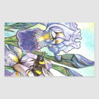 Bumblebee And Irises Sticker