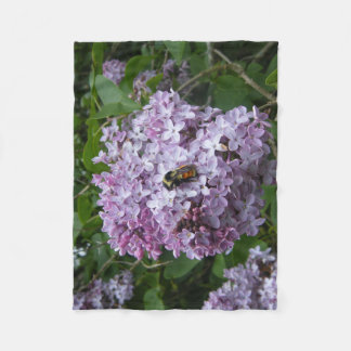 Bumblebee and Lilac Fleece Blanket