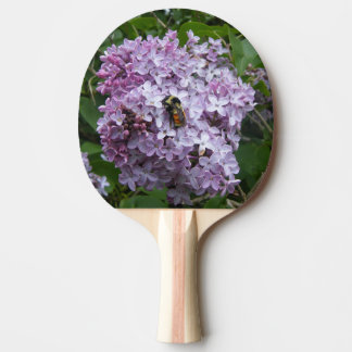 Bumblebee and Lilac Ping Pong Paddle
