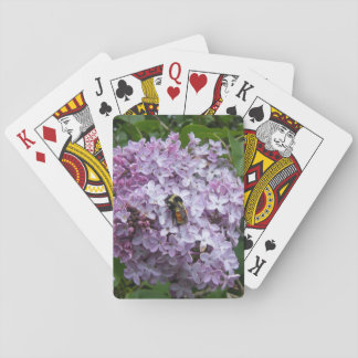 Bumblebee and Lilac Tree Poker Card