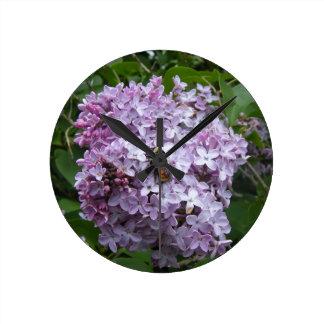 Bumblebee and Lilac Wall Clock