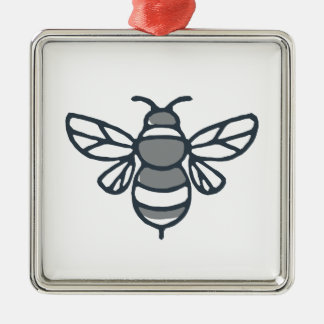 Bumblebee Bee Icon Metal Ornament