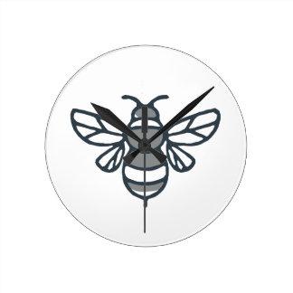 Bumblebee Bee Icon Round Clock