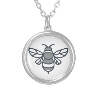 Bumblebee Bee Icon Silver Plated Necklace