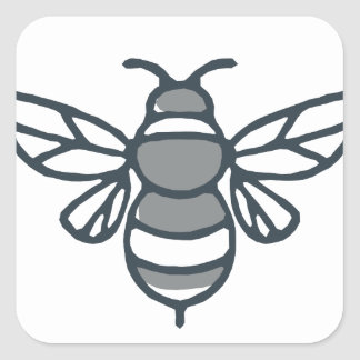 Bumblebee Bee Icon Square Sticker