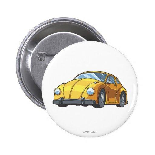 Bumblebee Car Mode Pinback Button