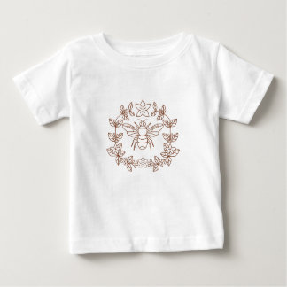Bumblebee Coffee Flower Leaves Icon Baby T-Shirt
