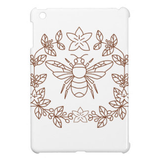 Bumblebee Coffee Flower Leaves Icon iPad Mini Case