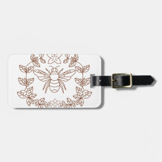 Bumblebee Coffee Flower Leaves Icon Luggage Tag