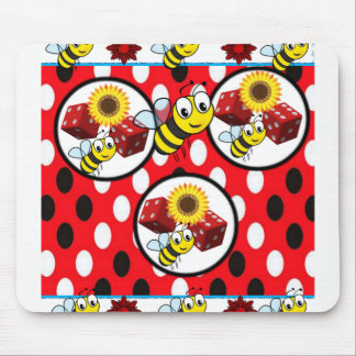 Bumblebee Dice coaster Mouse Pad