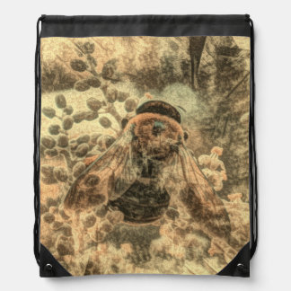 Bumblebee Drawstring Bag