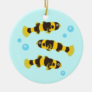 Bumblebee Goby Fish Ceramic Ornament
