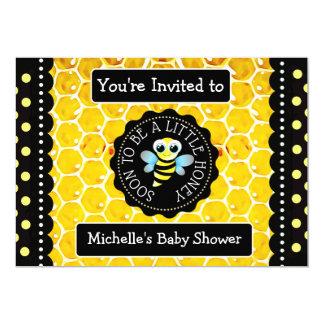 Bumblebee Honeybee Themed Baby Shower Invitation