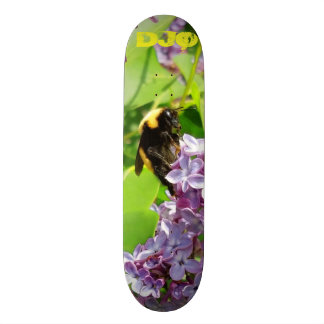 Bumblebee on Lilac Bush with your  initials Skateboard