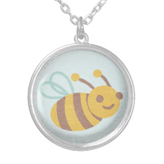 Bumblebee Silver Plated Necklace