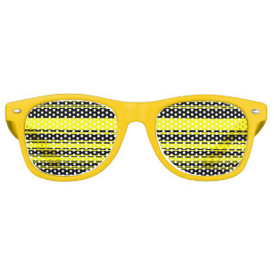 38cf4852945 Bumblebee Stripes Retro Sunglasses