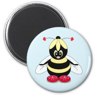 Bumblebee with Flower Hat Magnet