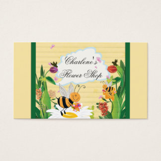 Bumblebees Flowers Gardens Business Card