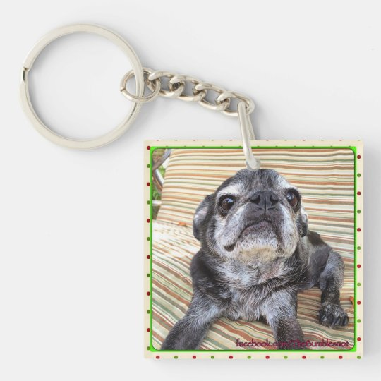 Bumblesnot keychain:  Bumble Love Double-Sided Square Acrylic Keychain