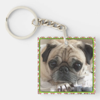Bumblesnot Keychain: Itsy Pug/Rescue is Love Keychain