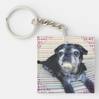 """Bumblesnot keychain: """"Rescue"""" is the best breed! Keychain"""