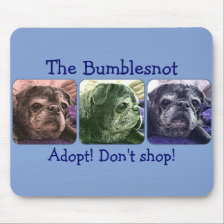 Bumblesnot mousepad: Color Me Bumble Mouse Pad