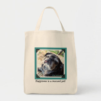 Bumblesnot Tote Bag: Happiness is a rescued pet!