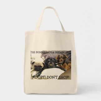 Bumblesnot tote bag: The Bumblesnot & Friends say