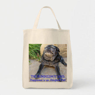 Bumblesnot totebag: Happiness is an Adopted Pet!