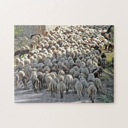 """Bummer"" tricky sheeps bottoms jigsaw puzzle"