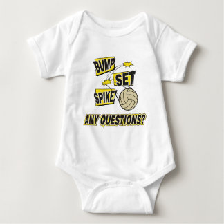 Bump Set Spike Volleyball Baby Bodysuit