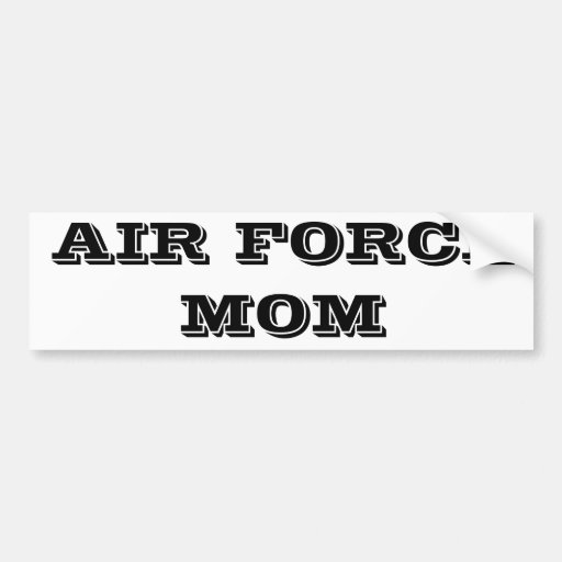 Bumper Sticker Air Force Mom