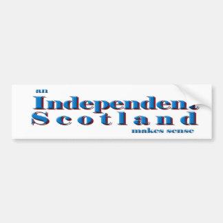 Bumper sticker An independent Scotland makes sense