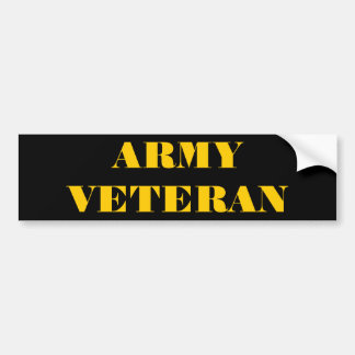 Bumper Sticker Army Veteran