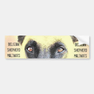 Bumper Sticker belgian shepherd malinois