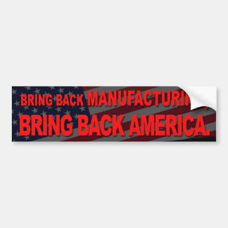 Bumper sticker- bring back bumper sticker