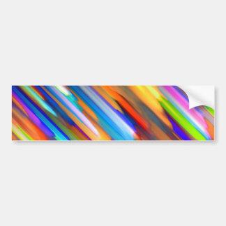 Bumper Sticker Colorful digital art splashing G391