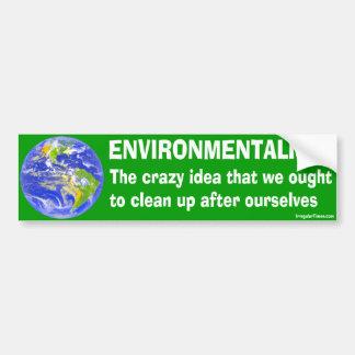 Bumper Sticker Definition of Environmentalism