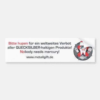 Bumper sticker (German, white)