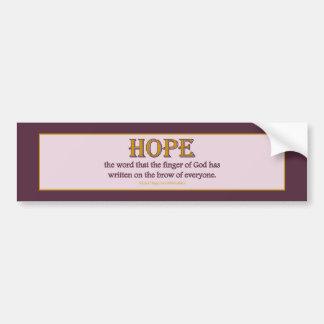 Bumper Sticker: Hope Bumper Sticker