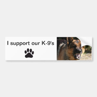 Bumper sticker I support our K-9's