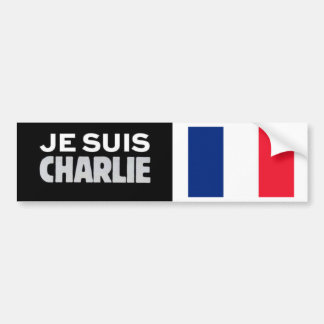 Bumper Sticker Je Suis CHARLIE with French Flag