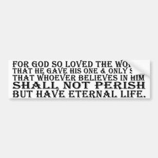 Bumper Sticker - John 3:16