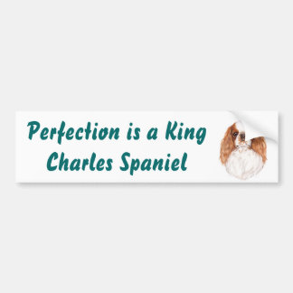 Bumper Sticker : King Charles Spaniel