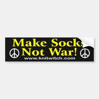 Bumper Sticker - Make socks not war