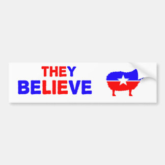 Bumper sticker making fun of the two party system