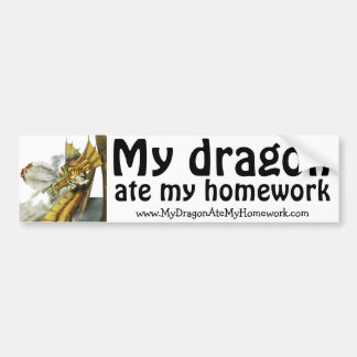 Bumper Sticker - My Dragon Ate My Homework