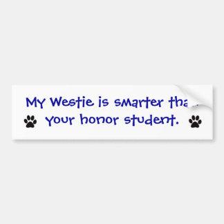 Bumper Sticker - My Westie is Smarter