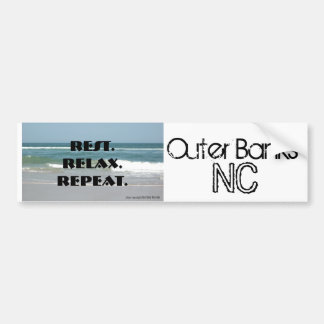 Bumper Sticker OBX Outer Banks Rest Relax Repeat