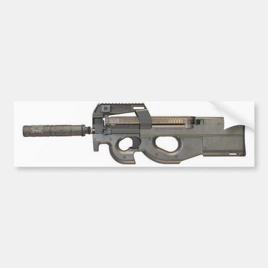 Bumper Sticker - P90 w/Silencer